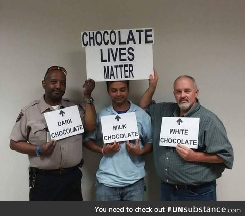 Chocolate lives matter!