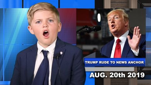 Trump Rude to News Anchor! Kids News Reacts!
