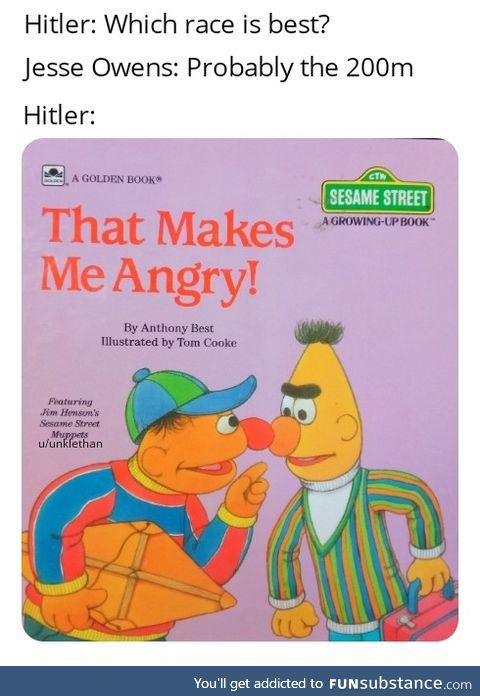 Hitler's angry
