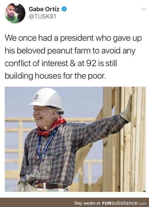 Jimmy Carter = legend