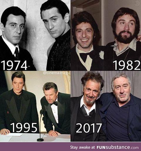 Al Pacino and De Niro trough ths time