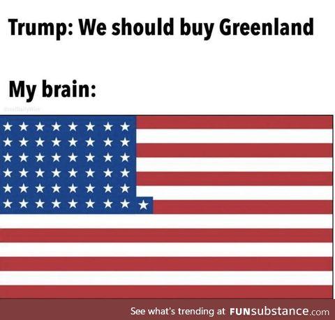 We traded Alaska and Hawaii for Greenland