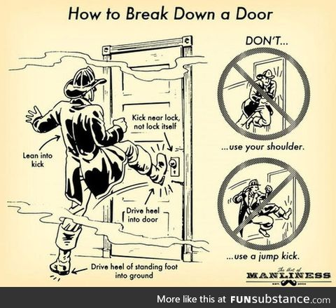 Kick the door like a proper man