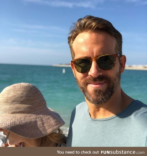 One of the photos Ryan Reynolds posted, wishing his wife a happy birthday