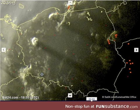 Under the right conditions, the clouds can cast shadows spanning the whole country