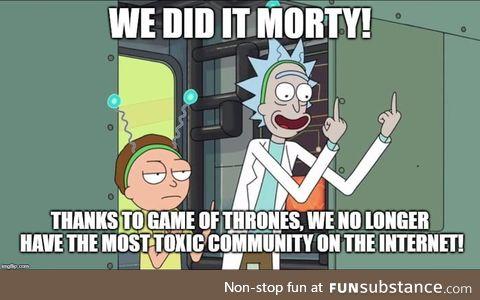 Flame wars, flame wars everywhere Morty