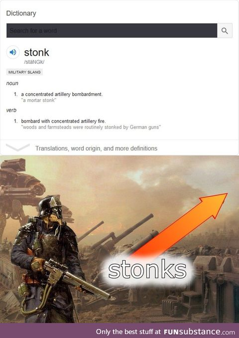 You gotta watch out for them stonks man