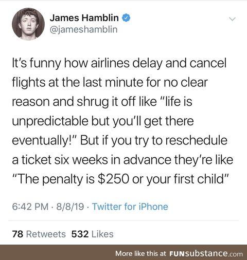 Airline shenanigans