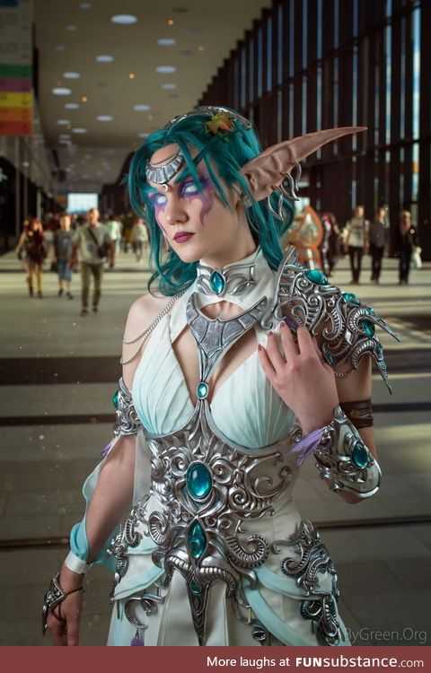 Tyrande whisperwind by @vira_nailovna