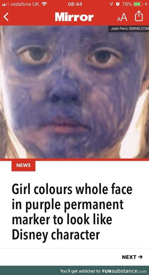 Ban purple face
