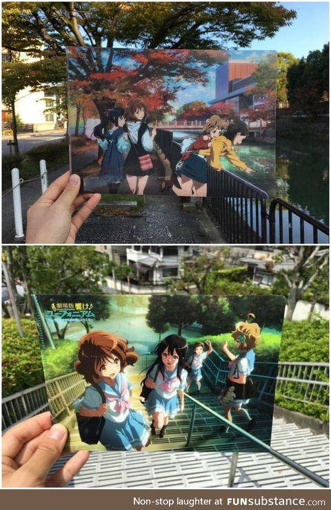 Photos of anime scenes irl