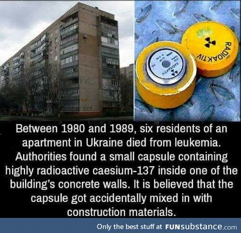 Just wanted to join in with a radiation post that doesn't have to do with Chernobyl