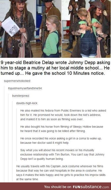 Johnny Depp is wholesome
