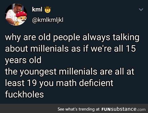 Those damn millenials