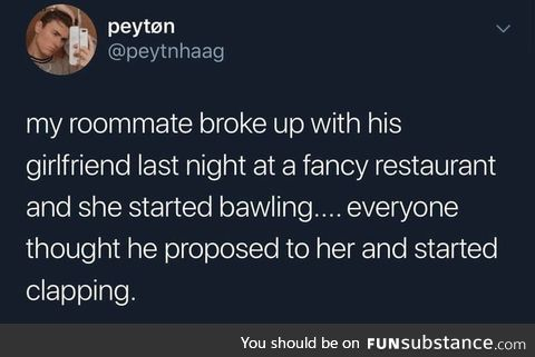 On top of a breakup
