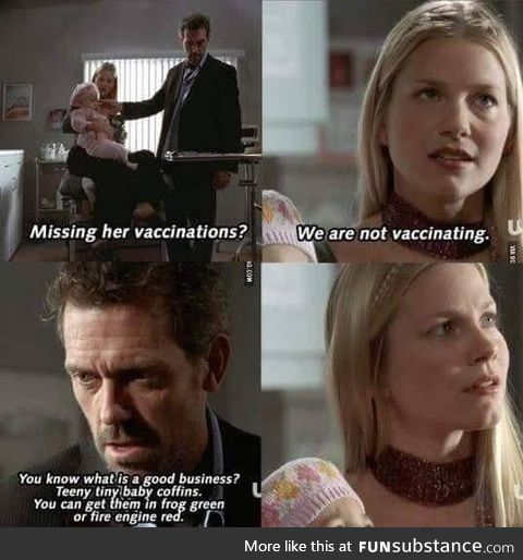 House and an anti-vaxxer