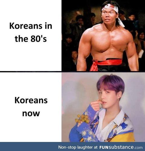 Korean now & then