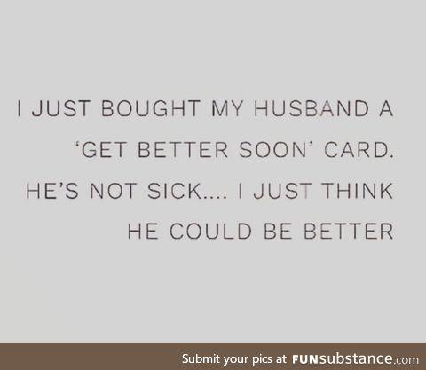 Get well soon honey