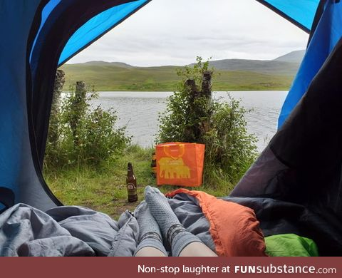 For all those who don't know: Wild camping is legal in Scotland. If you want, you
