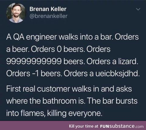 A QA engineer walks into a bar