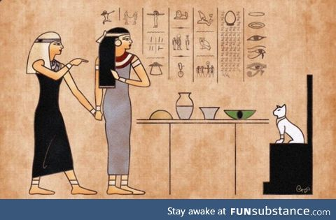 """You can't just travel back in time to ancient Egypt and create memes"""