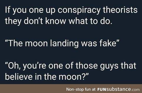 Bamboozle a conspiracist