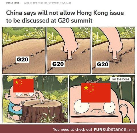 Nothing is happening in Hong Kong