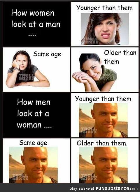 We men are simple creatures