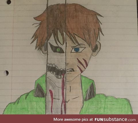 Finished drawing of Eren Yaeger on Aot