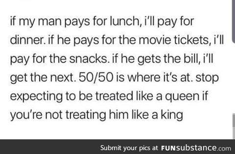 50/50 is where it's at