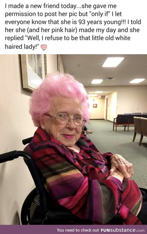Pink old lady