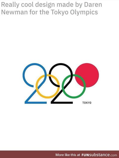 Tokyo Olympics flag the art