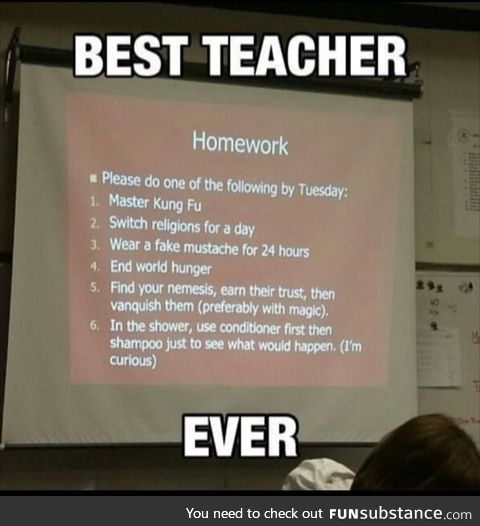 What kind a teacher is this..?