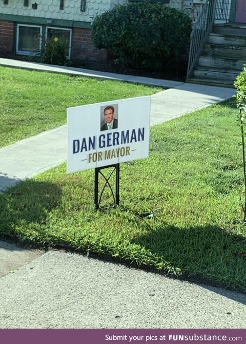 Maybe let's not elect someone named Danger Man