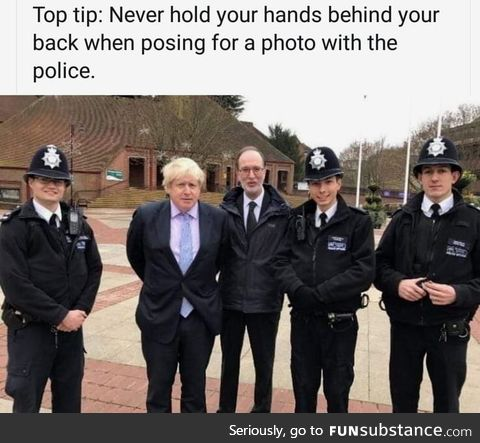 Never put your hands back