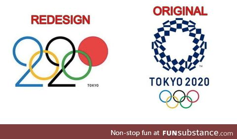 Whoever redesigned the tokyo's 2020 olympics logo is creative as f**k