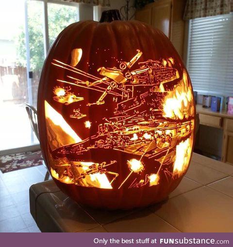 Pumpkin carving level god !