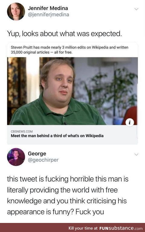 Carefully, he's a hero