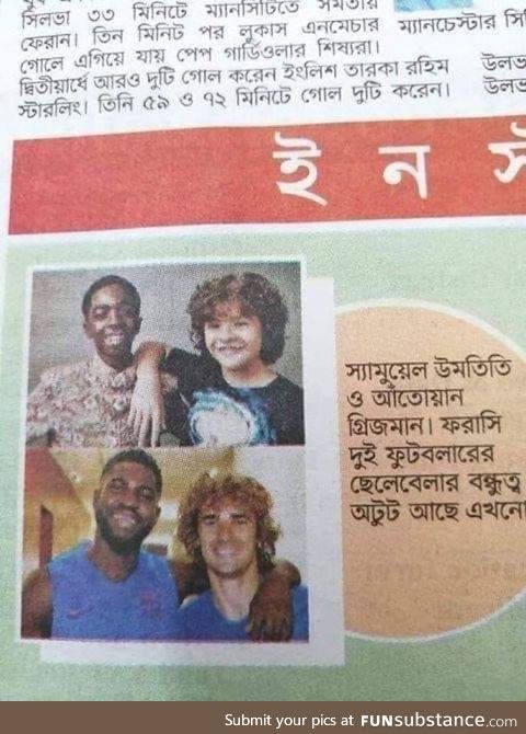 Newspaper in Bangladesh uses pictures of Dustin and Lucas from stranger things as