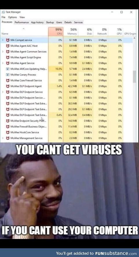 McAfee = perfect antivirus
