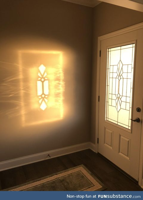 The way the light shines through this door