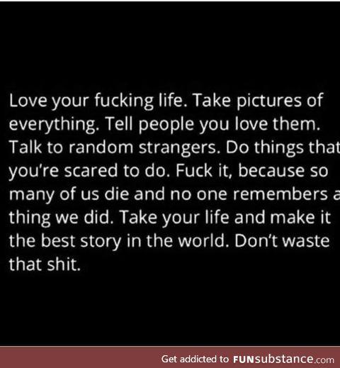 Don't waste it!