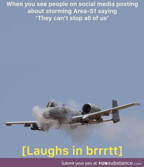 Laughs in A-10 warthog