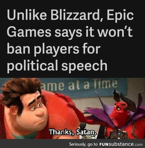 Thanks satan!
