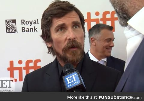 Christian Bale told an interviewer that he's excited for Joaquin Phoenix because