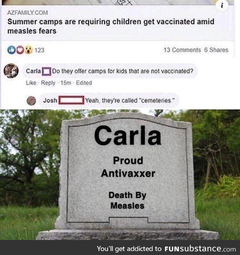 Carla, a fallen soldier