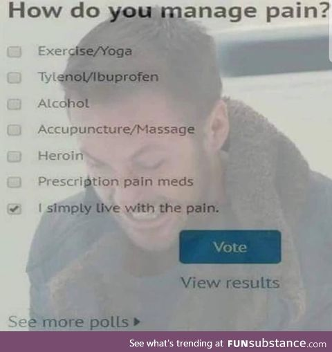 How do you manage pain?