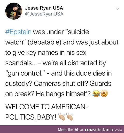 Welcome to American Politics! Nothing to See here! Carry on!