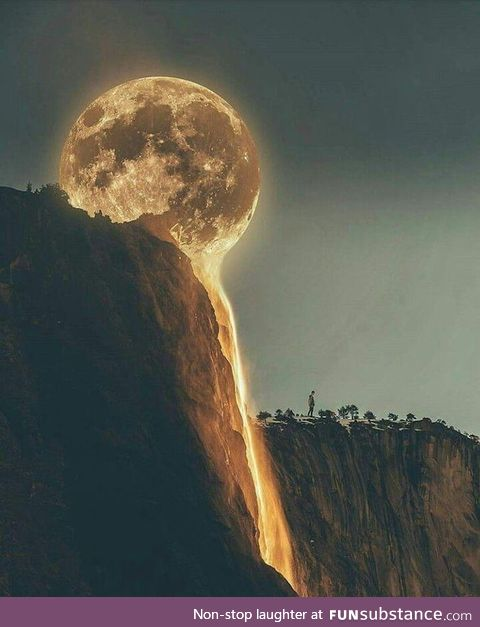 Moon appears to be melting