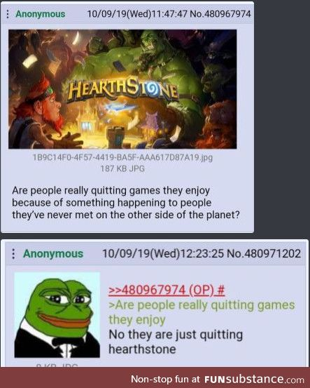 No they are just quitting hearthstone